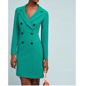 Anthropologie Double Breasted Blazer Dress